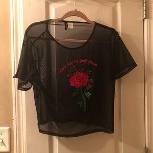 Black sheer see through shirt